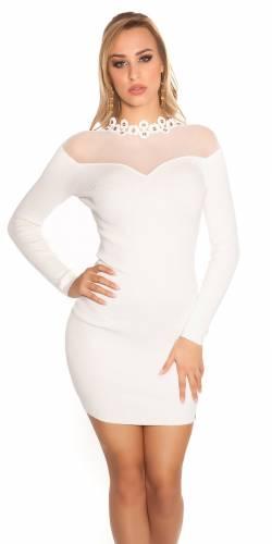 Feinstrick Kleid - white