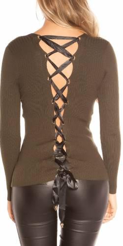 Ripp Pullover - khaki