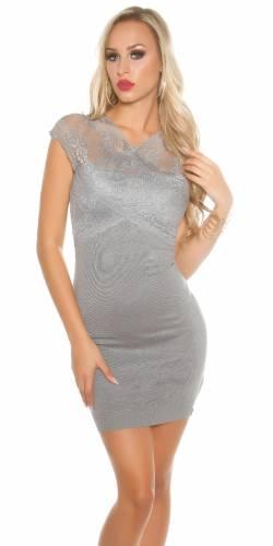 Spitzen Kleid - grey