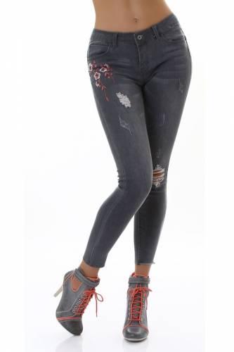 Skinny Jeans - grau