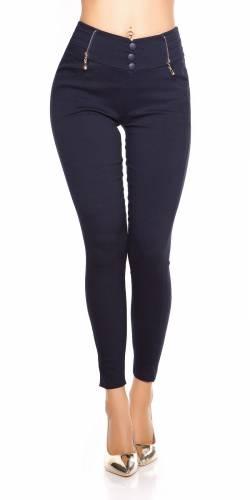 Zip Leggings - dark blue