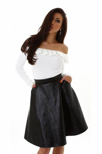 High Waist Rock - black