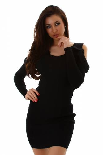 Strickkleid - black