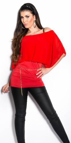 Blusenshirt Carmen - red