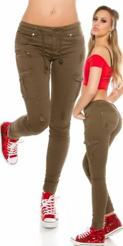 Cargo-Jeans - khaki