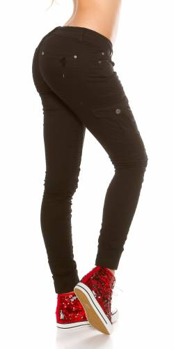 Cargo-Jeans - black
