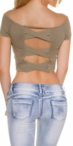 Crop Shirt - khaki