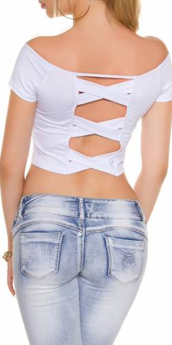 Crop Shirt - white