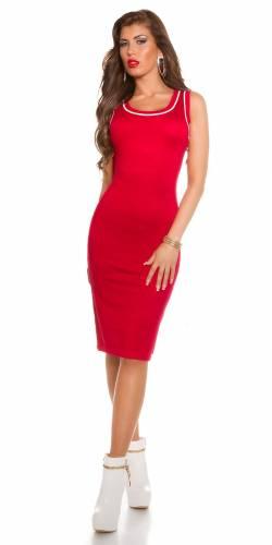 Feinstrick Kleid - red