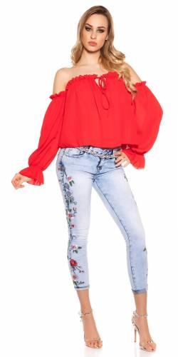 Langarm Shirt - red