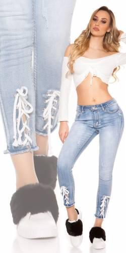 Skinny 7/8 Jeans - blue