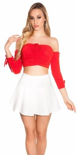 Crop Shirt - red