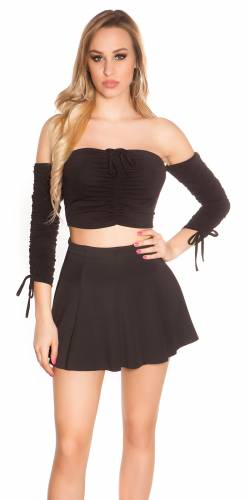 Crop Shirt - black