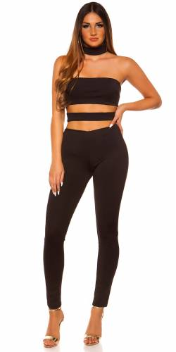 Cut Outs Overall - black