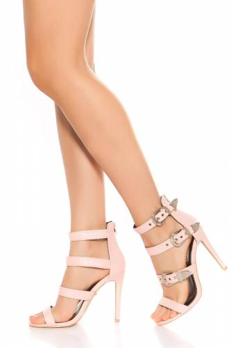 High Heel Sandaletten - rose