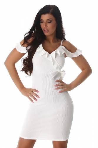 Feinripp Kleid - white