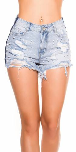 Jeans Hot Pants - blue