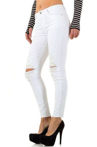 Jeans Blue Rags - white