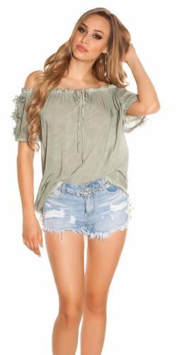 Carmen Shirt - khaki