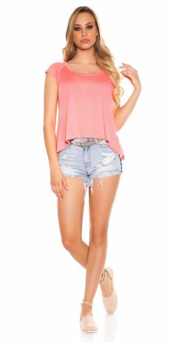 High Low Shirt - coral