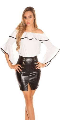 Carmenbluse - white