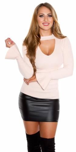 V-Cut Pullover - rose