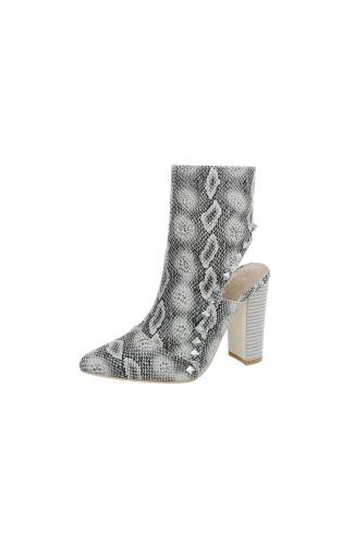 High Heel Stiefeletten - grey