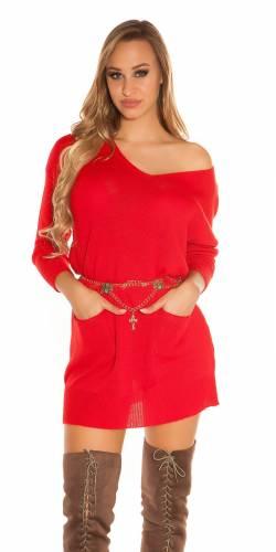 XL Pulli - red