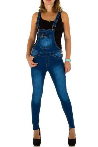 Jeans Latzhose - dark blue