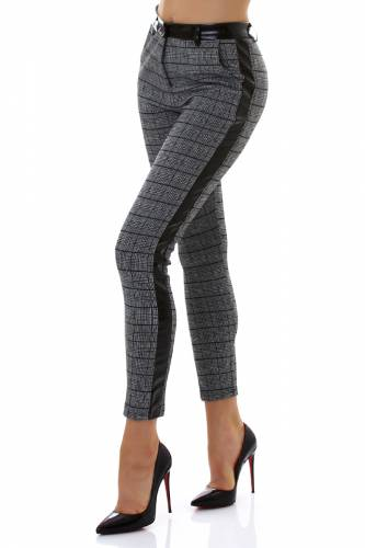 Pantalon à carreaux - grey