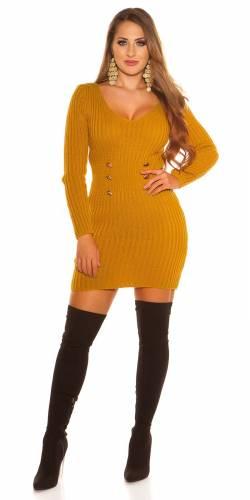 Strickkleid - yellow