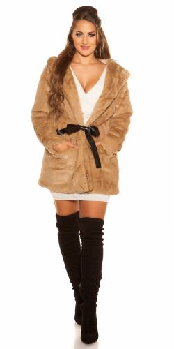 Kapuzenjacke - light brown