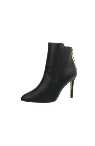 High Heel Stiefeletten - black