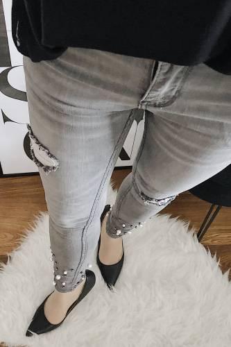 Jeans Laulia - gris