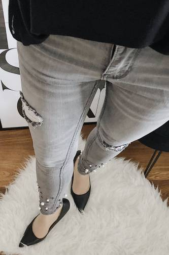 Jeans Laulia - grau