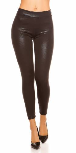 Wetlook Leggings - black