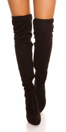 Overknees Stiefel - black