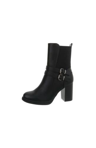 High-Heel Stiefeletten - black