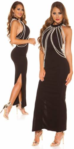 Neckholder Kleid - black