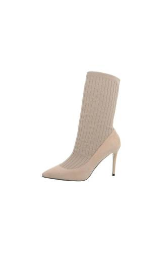 High-Heel Pumps - beige