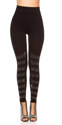 Strass Leggings - black