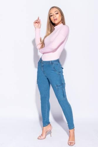Cargo Jeans - bleu
