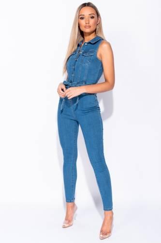 Denim Jumpsuit - blue