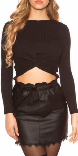Crop Shirt - black