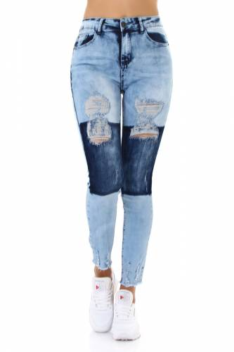 High Waist Jeans - pale blue