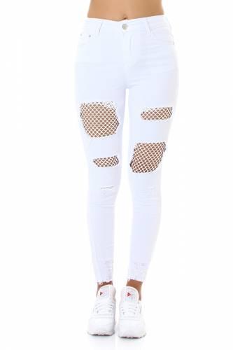 High Waist Jeans - blanc