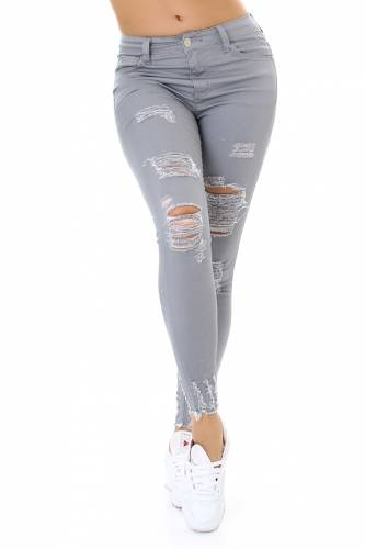 High Waist Jeans - grey