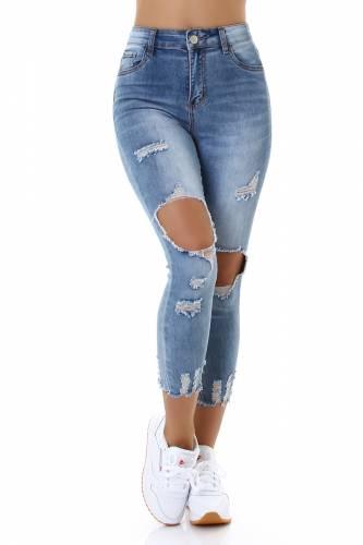Destroyed Jeans - blue