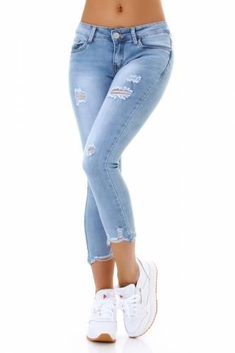 Jeans 7/8 - pale blue