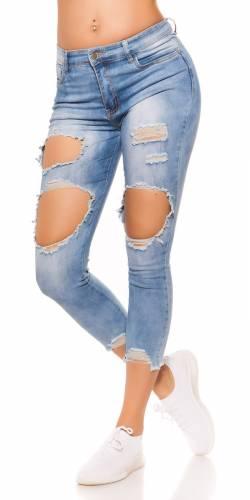 Jeans Destroyed - blue